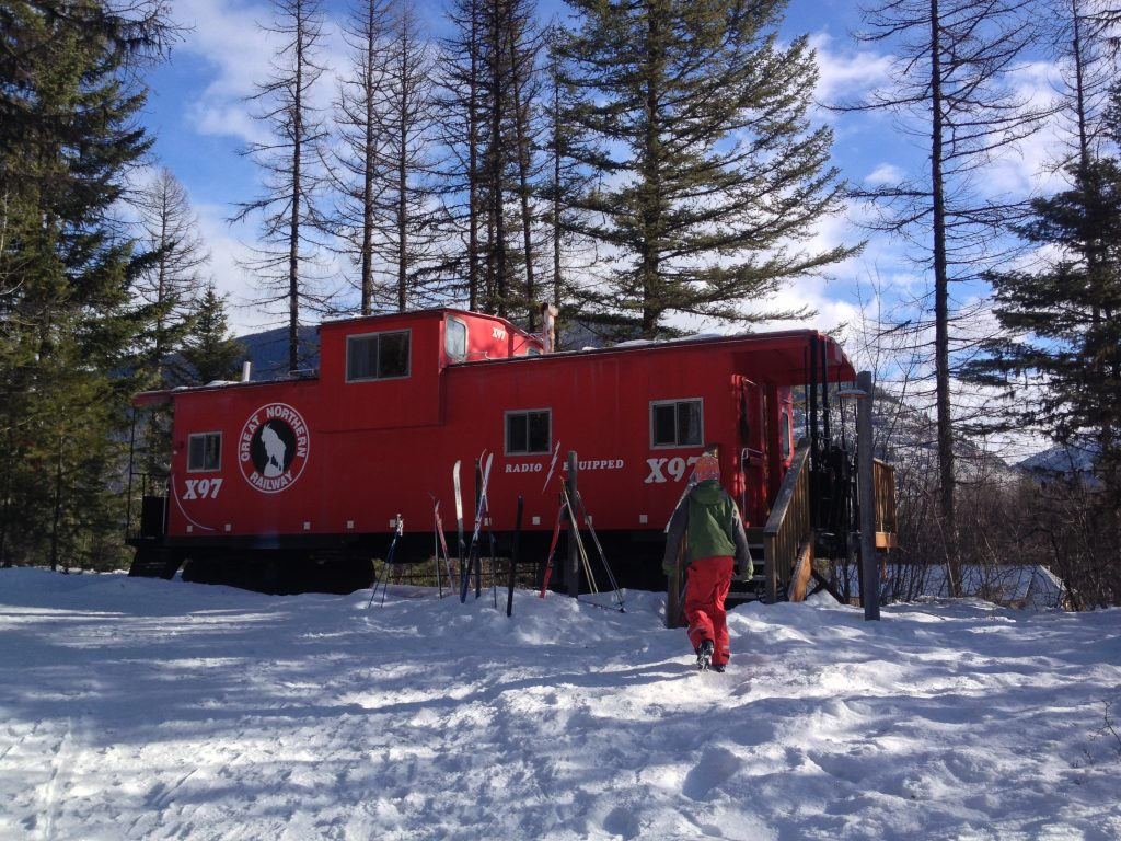 Caboose at Izaak Walton Inn in Glacier National Park