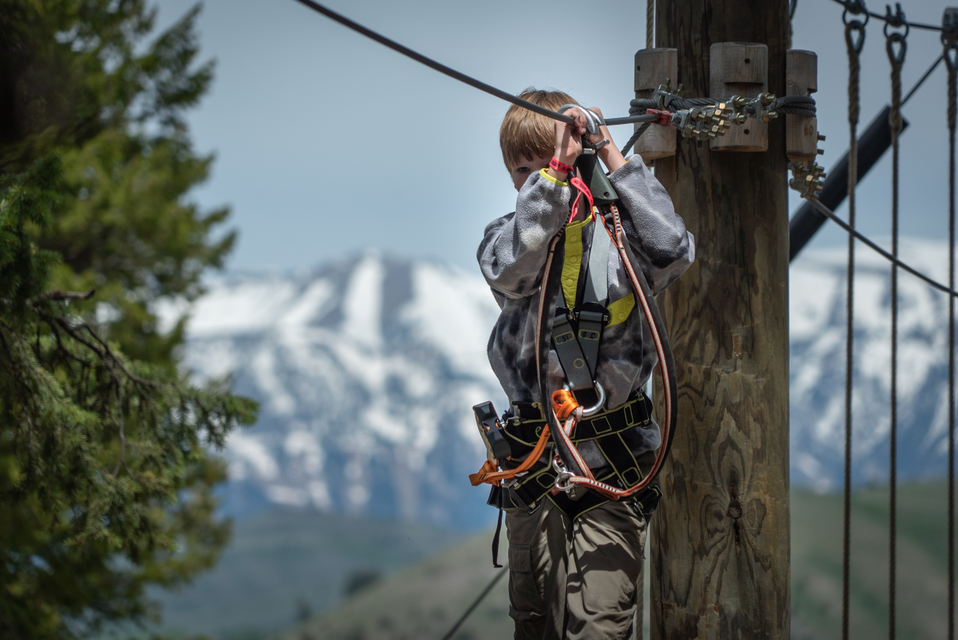 What to do in Jackson Hole Wyoming on Snow King Mountain Treetop Adventure
