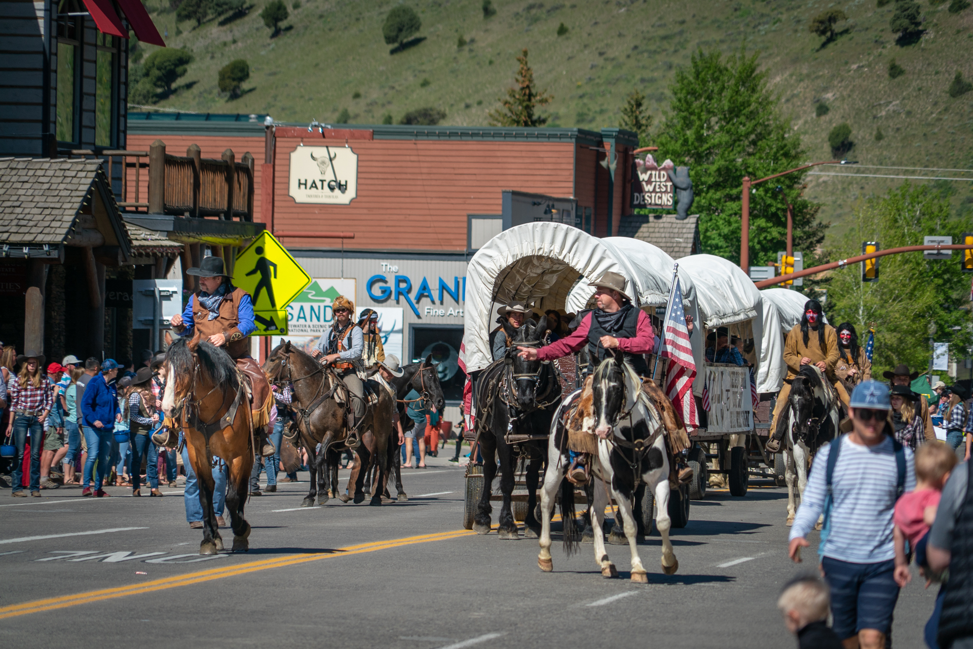 One of the fun things to do in Wyoming is catch a parade or event in Jackson Hole