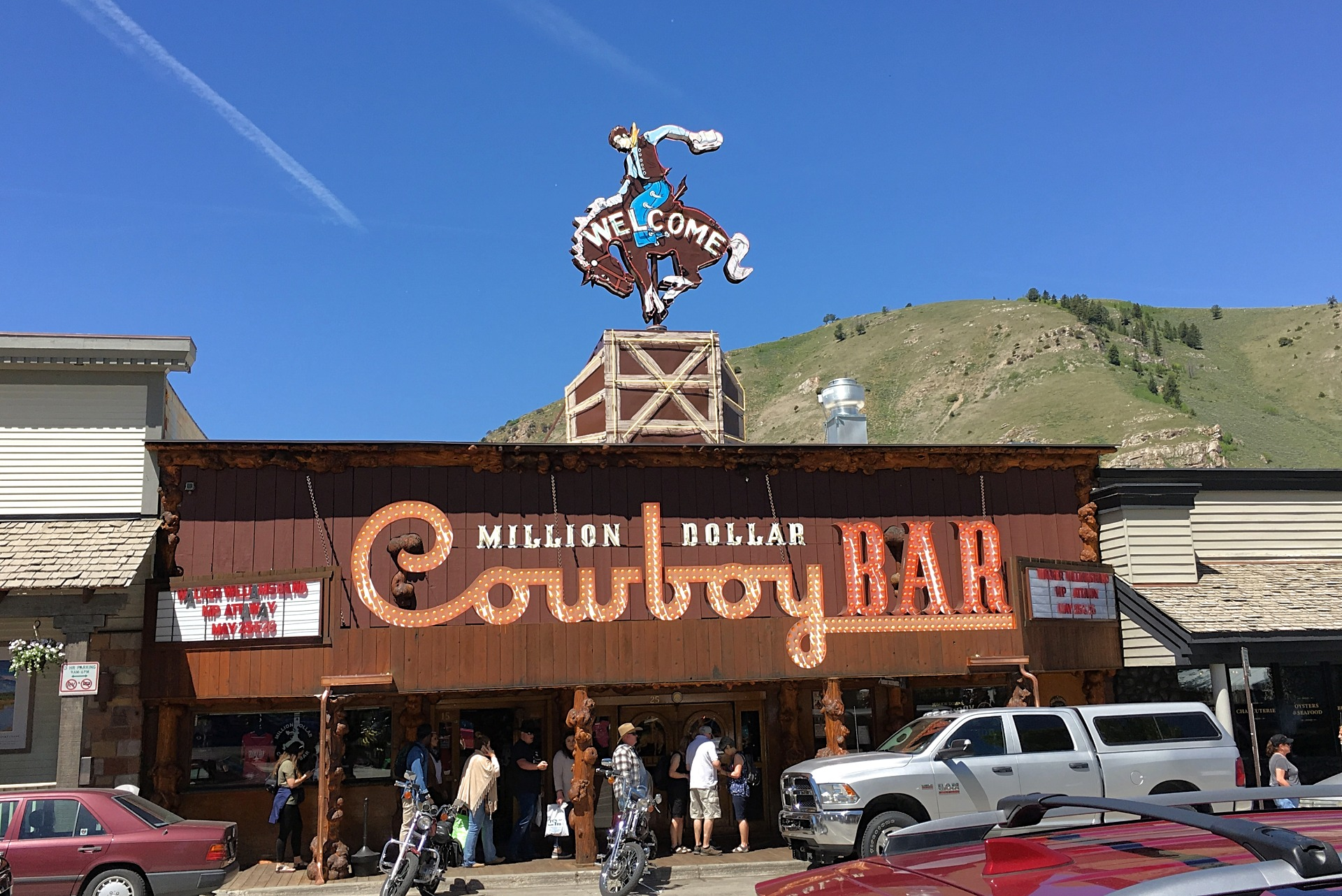 The Million Dollar Cowboy Bar in Jackson Wyoming downtown