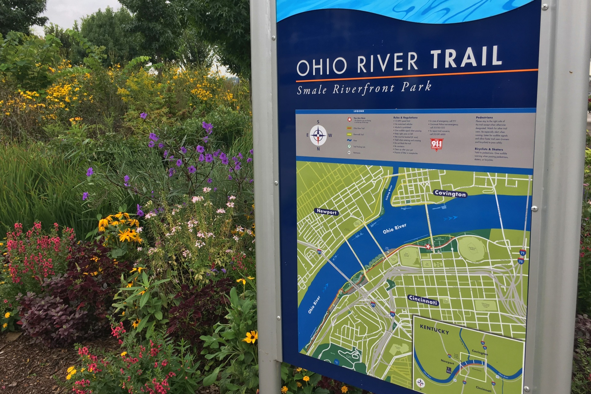 Snale Riverfront Park on the Ohio River