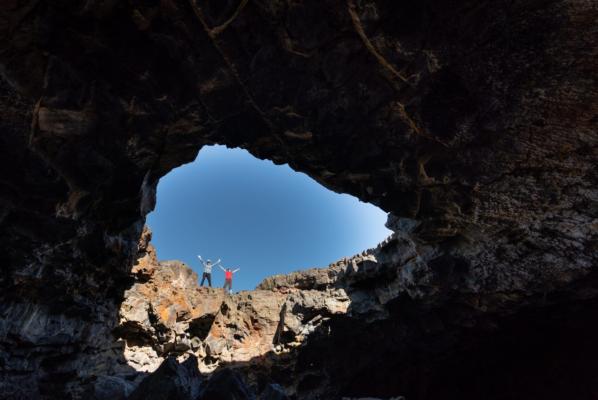 Indian Tunnel in Craters of the Moon National Park