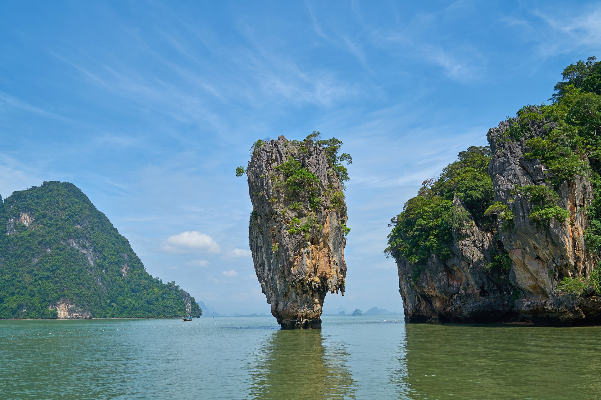 phang-nga-bay big rock island in Thailand