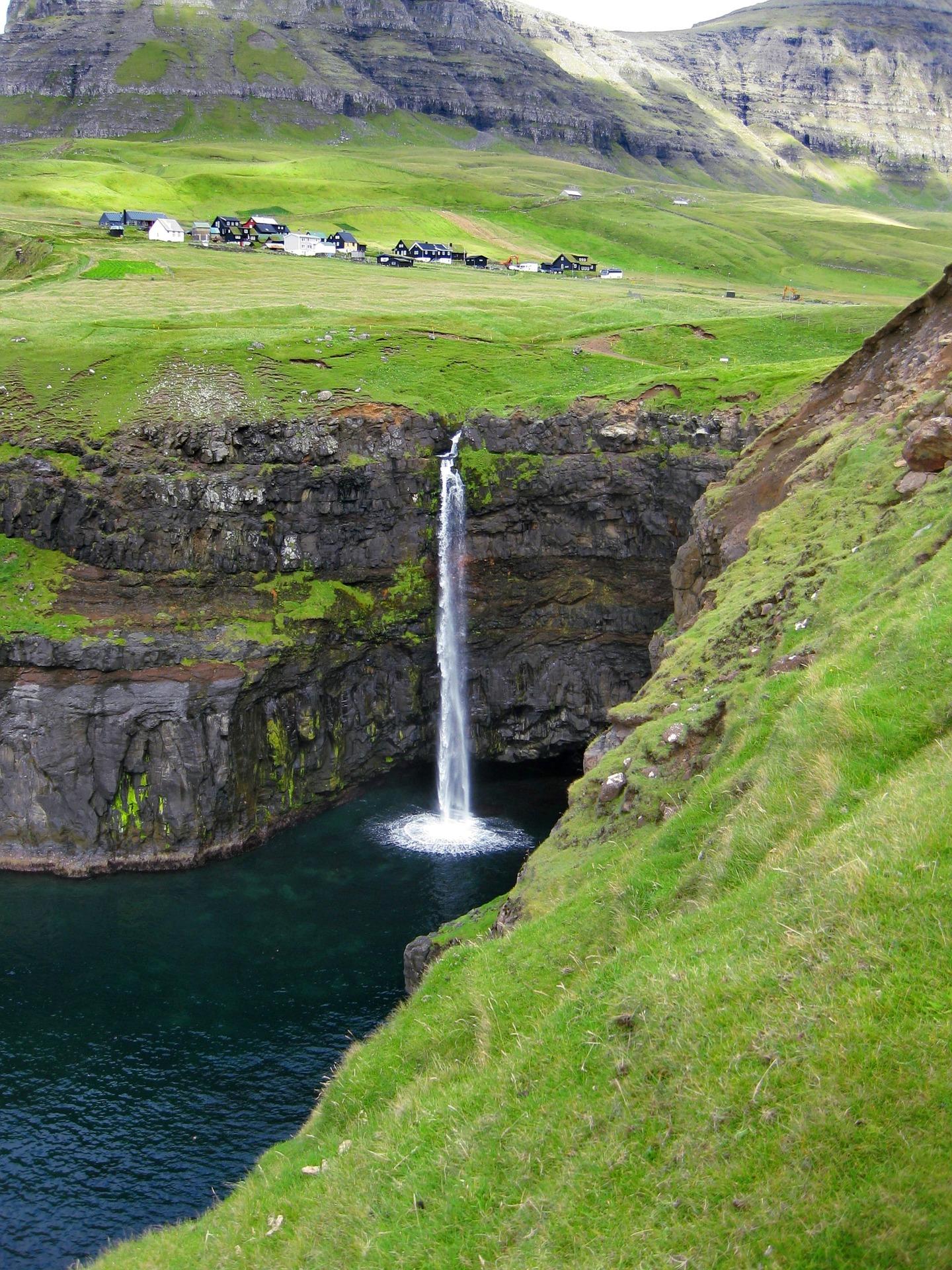 waterfall in the faroe islands