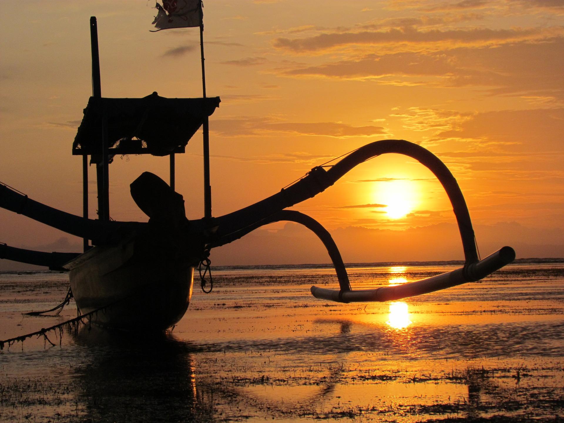 Sunrise in Sanur, Bali, Indonesia