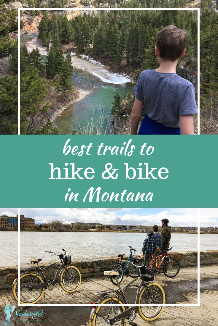 Find the best family-friendly trails in Montana for hiking and biking on your Montana vacation. There are so many things to do in Montana and exploring hiking and biking trails should top your list. #sponsored #montanamoment #hike #bike | Montana trails | Montana hikes | Montana bike rides | Family vacation Montana |