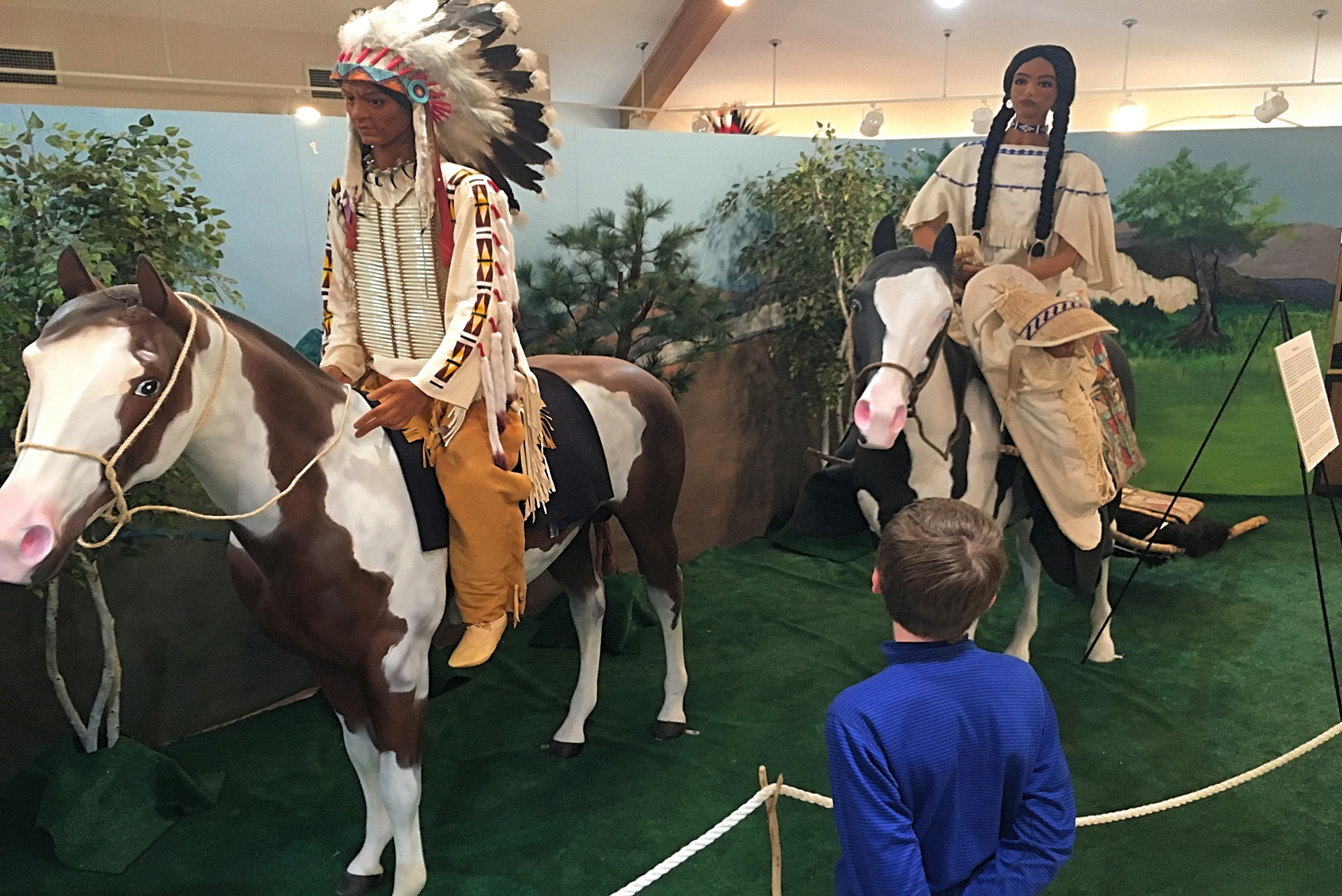 Exhibits at the Shoshone Bannock Tribal Museum in Pocatello