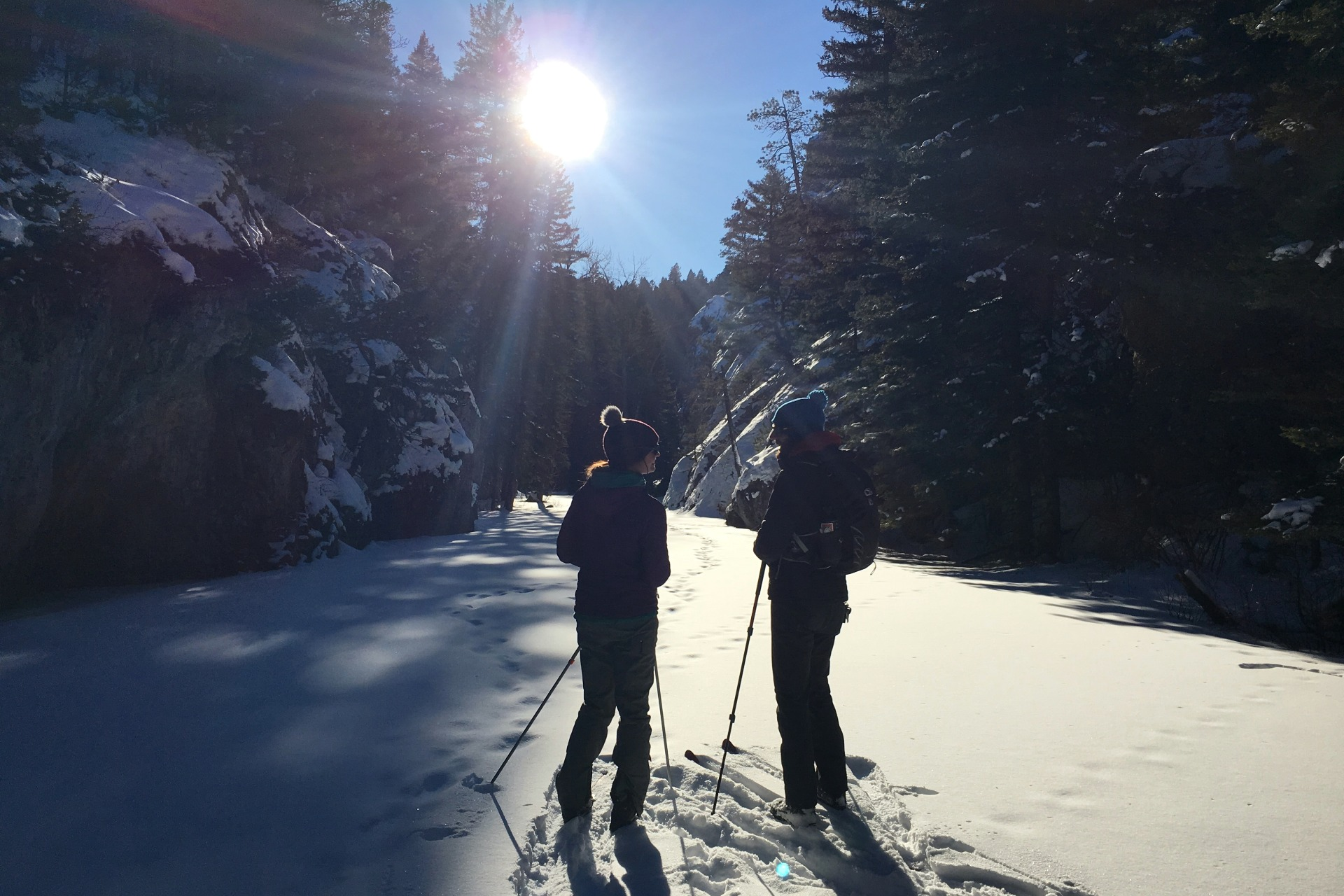 middle fok judith river ski and snowshoe