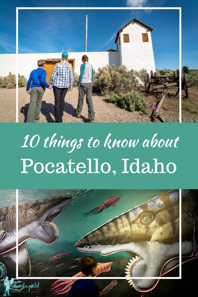 Did you know Pocatello, Idaho was a stop on the Oregon Trail? Or that buzzsaw sharks (crazy ratfish) once swam there? Plus other reasons you will want to visit Pocatello. #VisitIdaho #roadtrip #familyvacation |Cool towns in Idaho | Roadside attractions | things to do in Pocatello, Idaho