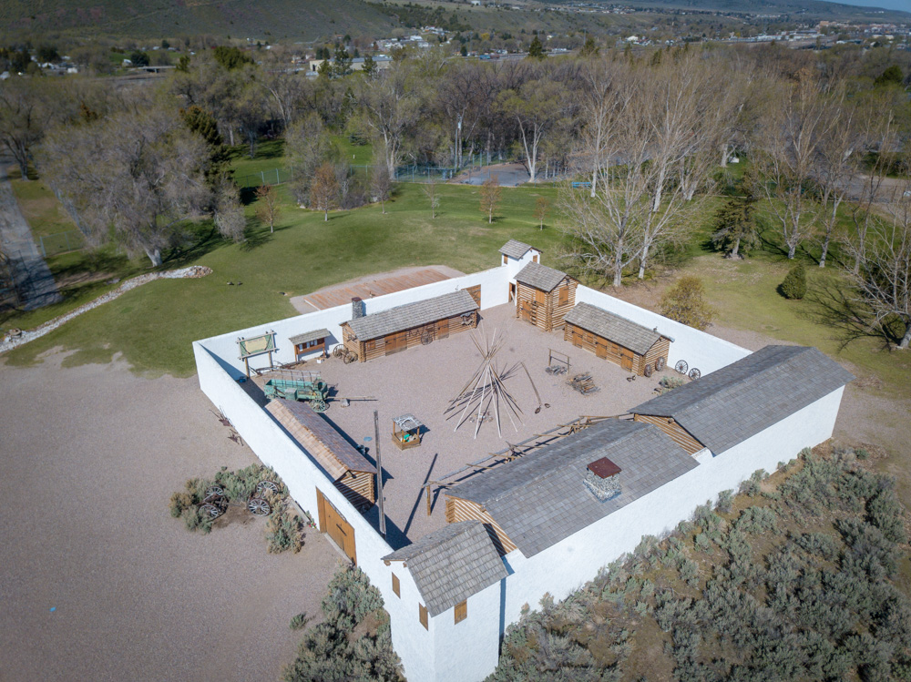 Fort Hall Replica in Pocatello from above