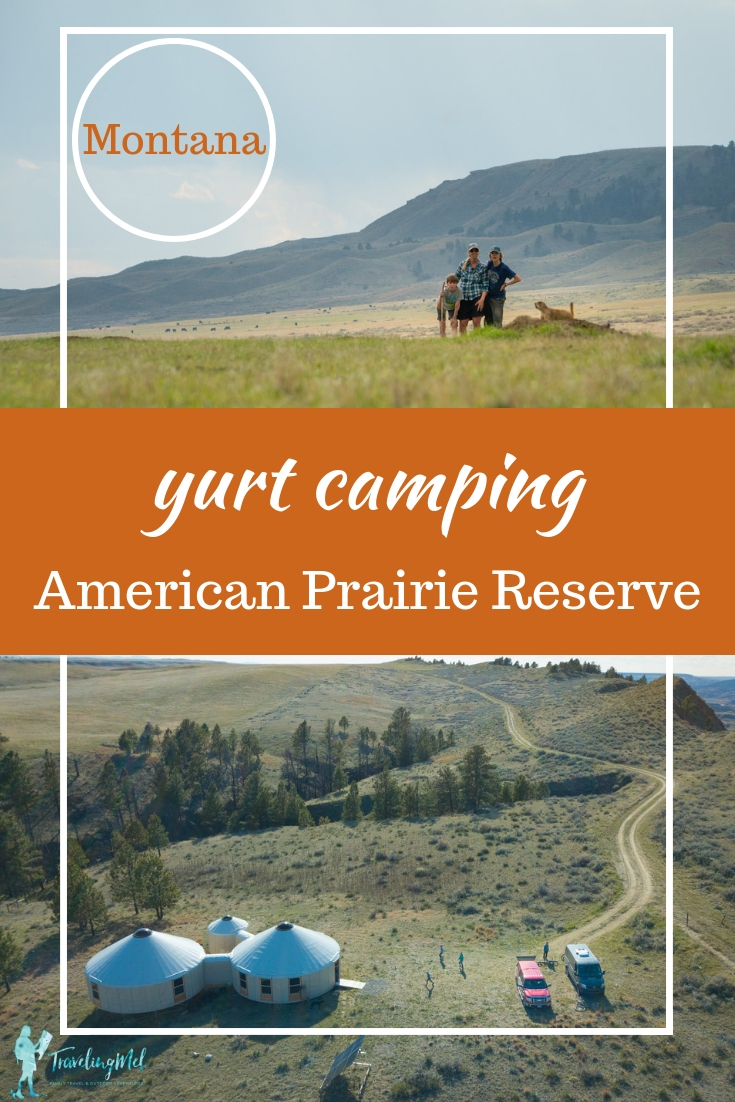 Our visit to American Prairie Reserve in central Montana was filled with bike rides, hikes, and time spent connecting with each other and the prairie. We stayed in glamping-style yurts in Montana. Here's everything you need to know to plan your own trip. #visitmontana #glamping #Montana #yurts |cabin in Montana | American Serengeti | ecosystem conservation | family camping | off the grid destinations in Montana | get away from it all in the West | American Prairie Reserve Yurt Camp | where the buffalo roam |