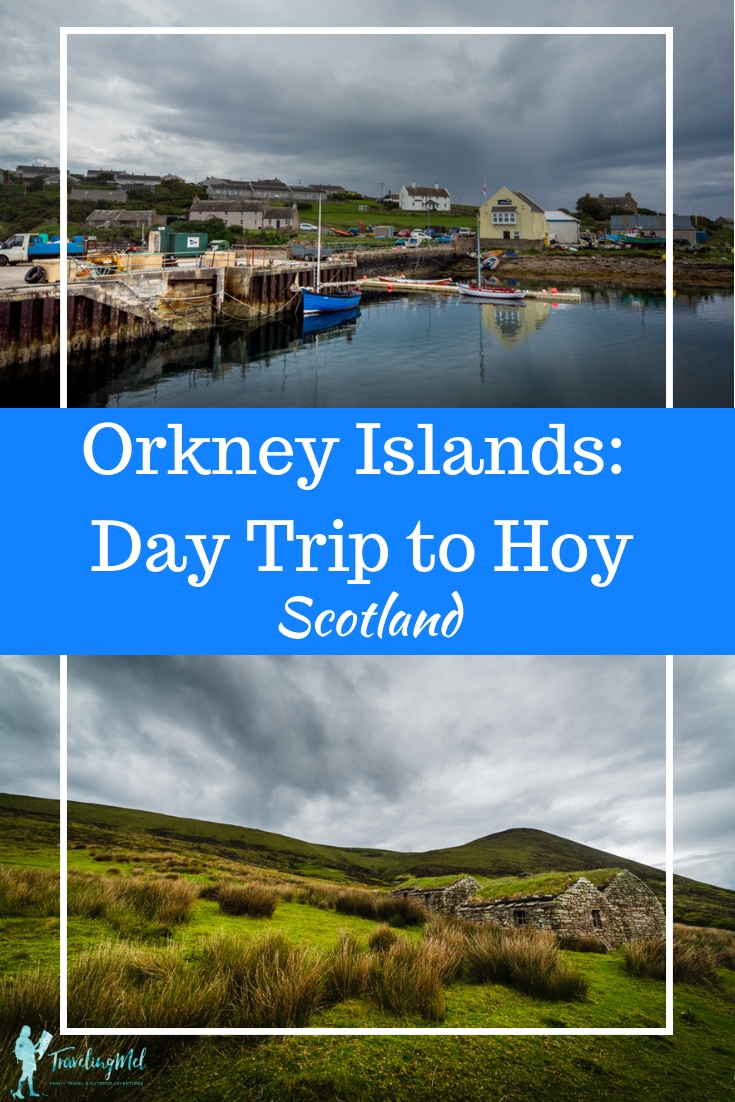 Do you want to take a day trip from Orkney Mainland? Hoy, Orkney's second largest island, is full of history (Neolithic, Vikings, WWI & II) and beautiful landscapes. #orkney #orkneyislands #scotland #hoy #oldmanofhoy #dwarfiestane #Longhope #scotlandtrip #thingstoseeanddo #scotlandislands #scotlandroadtrips #HoyTours #ToursofHoy #europeantravelideas #thingstodoinScotland
