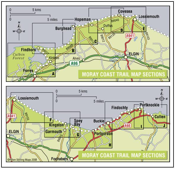 moray coast trail map