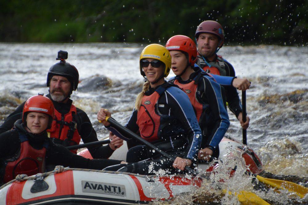 good rafting for family in UK