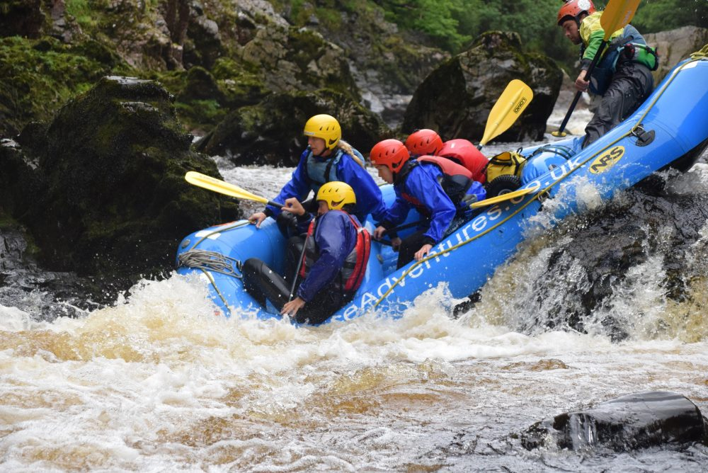 Ace Adventures is the best rafting company in Scotland