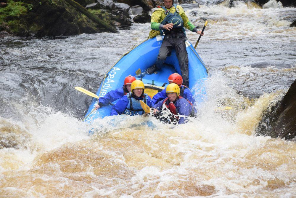 rafting the Findhorn River UK