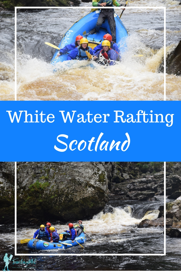 Want to add some outdoor adventure to your UK trip? Try white water rafting in Scotland with Ace Adventures on the River Findhorn near Aviemore and Moray. | Things to do in Scotland | off-the-beaten-path holiday destinations in Scotland | Things to do in the UK | white water rafting in Scotland | white water rafting UK | family-friendly Scotland | adventure sports in Scotland | #rafting #whitewaterrafting #moray #highlands