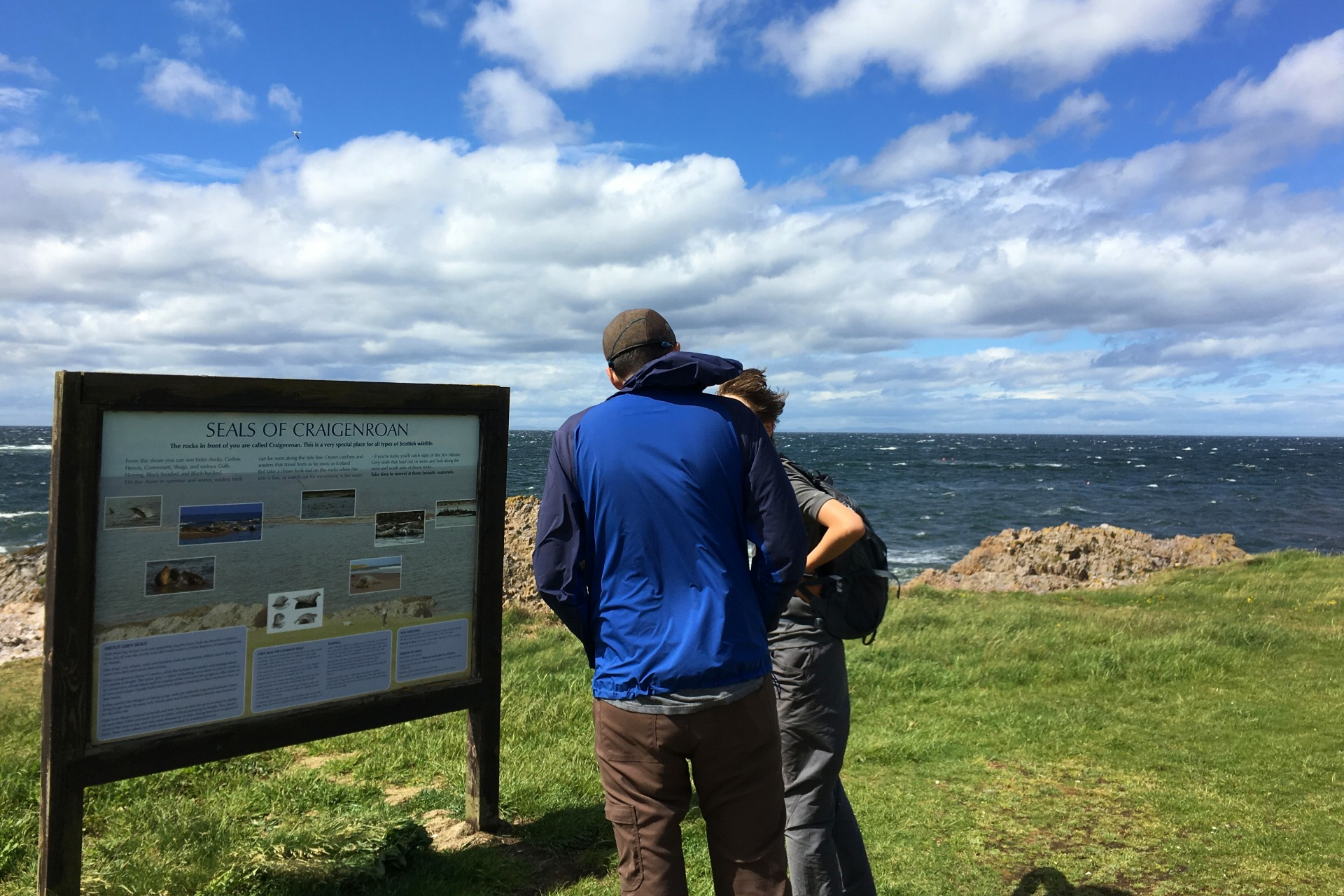 interpretive sign on the best walks in scotland