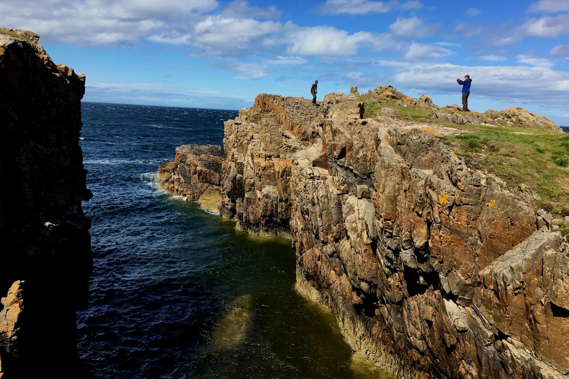 moray coast scotland cliffs