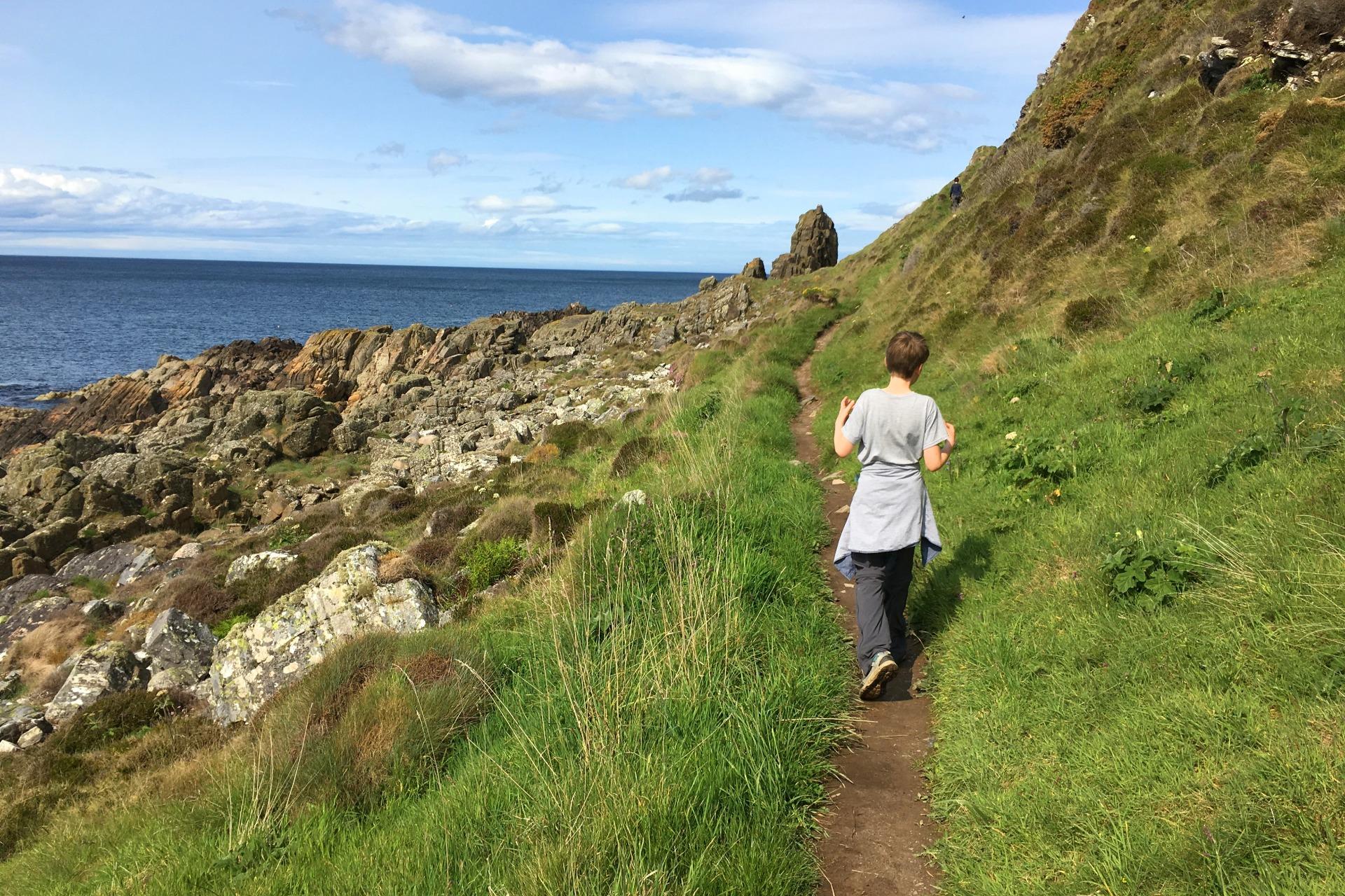 hiking in Scotland along the Moray Coast Trail