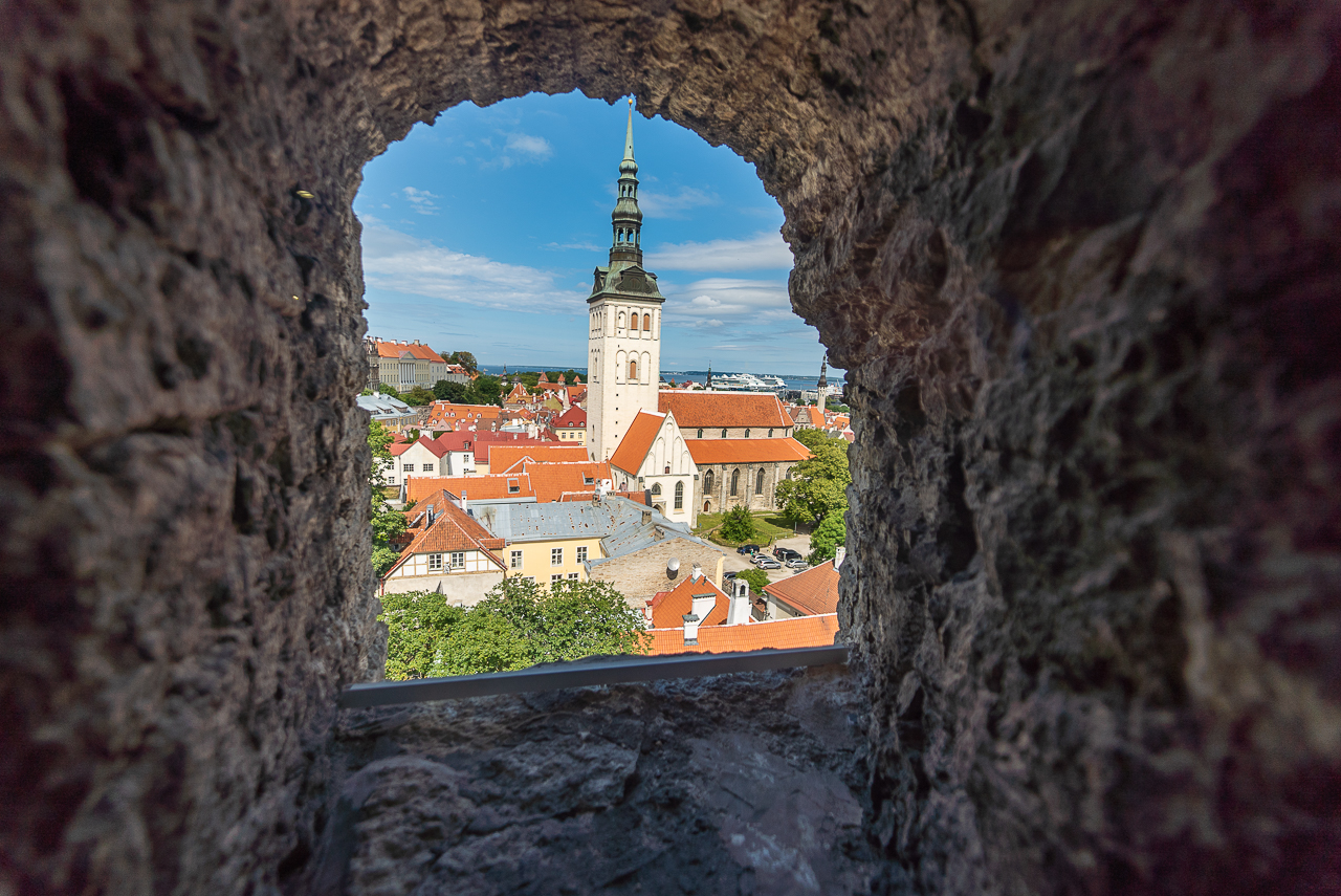 Old Town Tallinn from the Kiek in de Kok