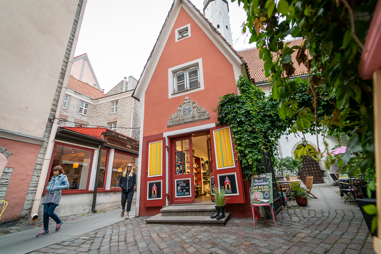 peach house in Old Town Tallinn