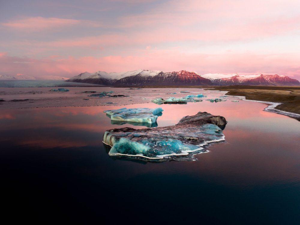 Iceland Jökulsárlón sunset_