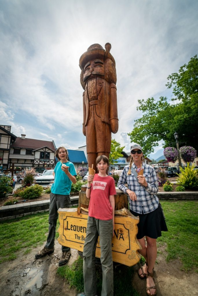 You can't have a German town in Washington without a giant wooden nutcracker