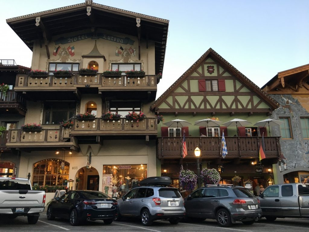Leavenworth USA Bavarian buildings
