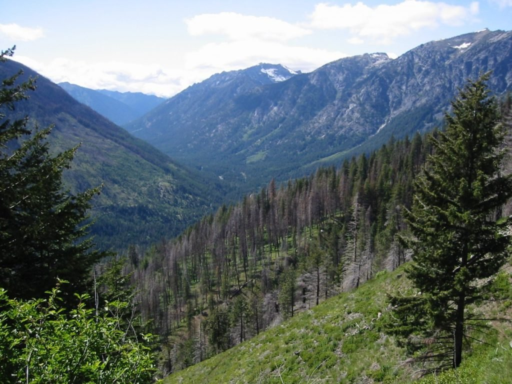 Icicle Ridge on right from Fourth of July Pass