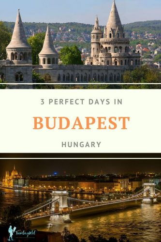 "Pin with text that says ""3 Perfect Days in Budapest, Hungary"""