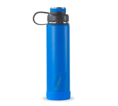 blue metal waterbottle