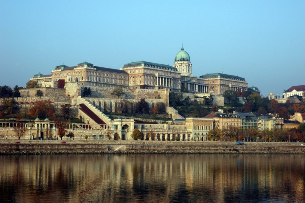 stone building on Danube River, Buda Castle