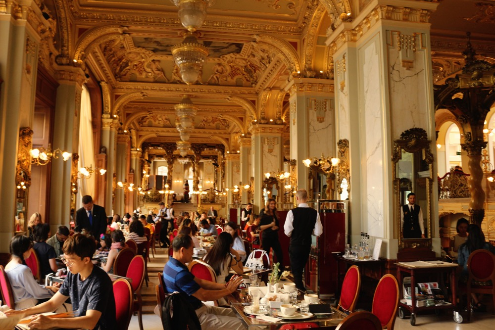 gold interior of New York Palace Cafe in Budapest