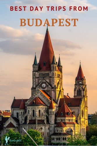 "Castle with text reading,"" best day trips from Budapest, Hungary"""
