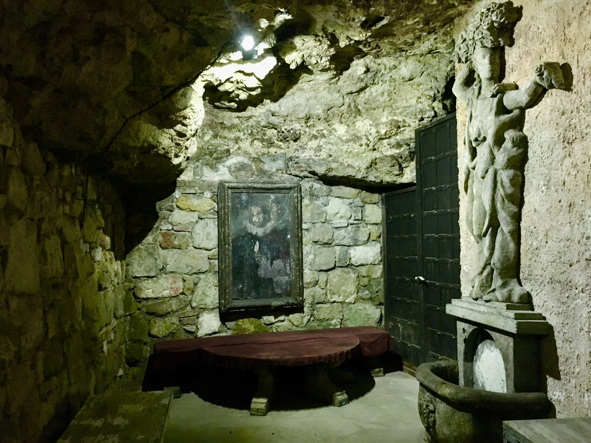 shrine to Dracula in Budapest
