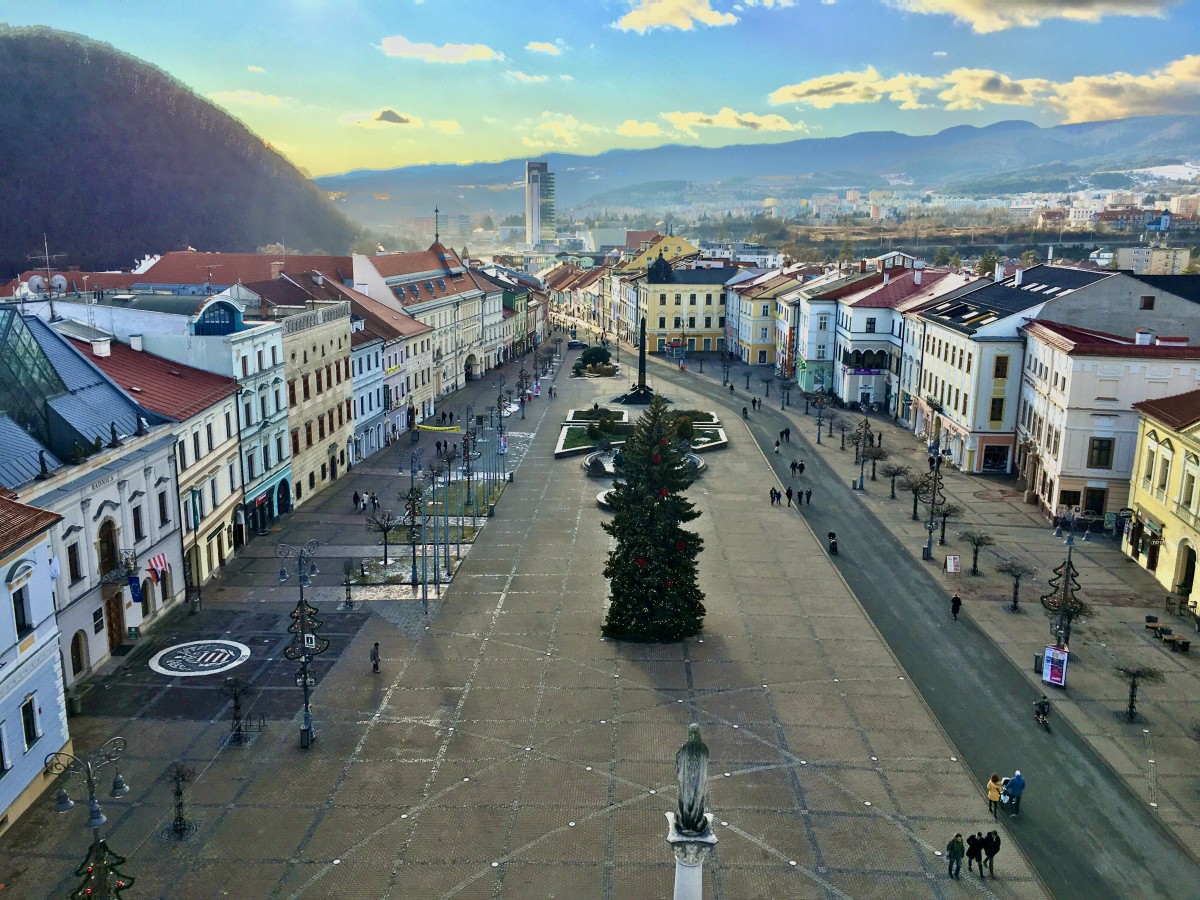 Banska Bystrica Slovakia from above