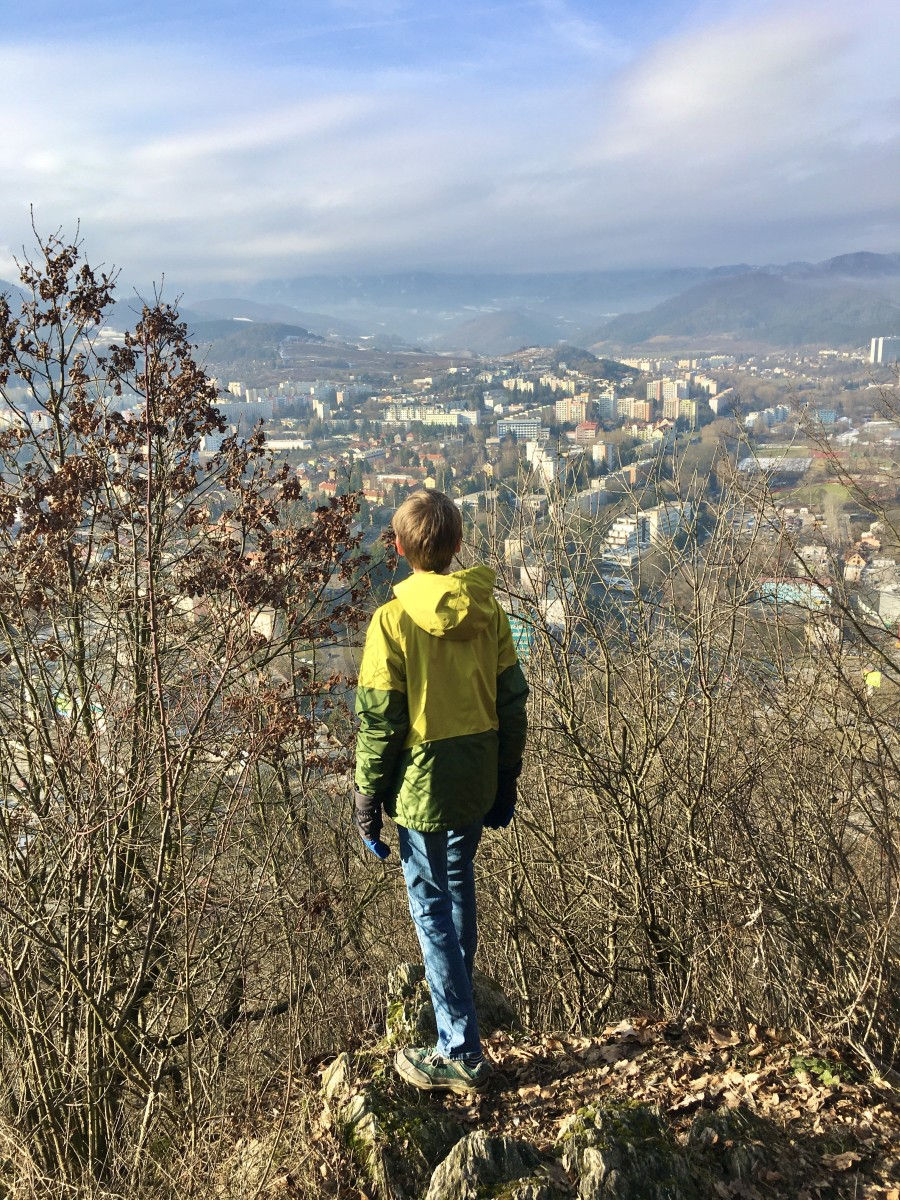 overlooking the city of Banska Bystrica Slovakia in winter