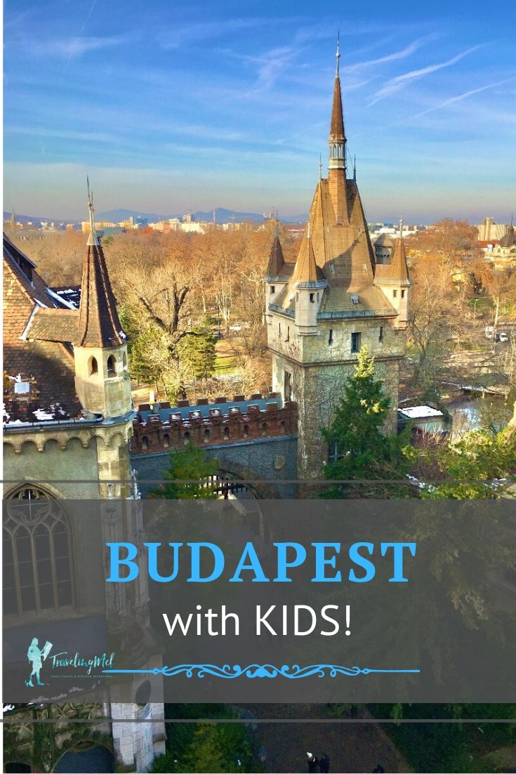 "a castle with the text ""budapest with kids"""