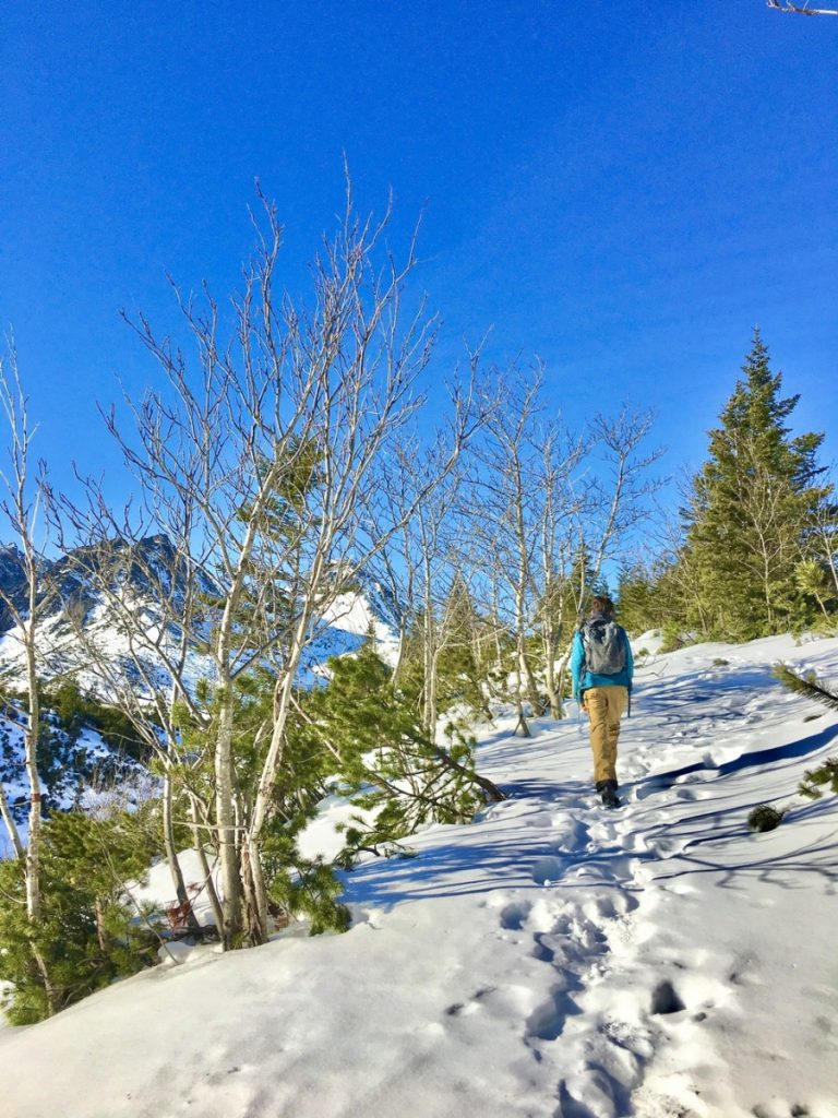winter hiking in the high tatra mountains slovakia