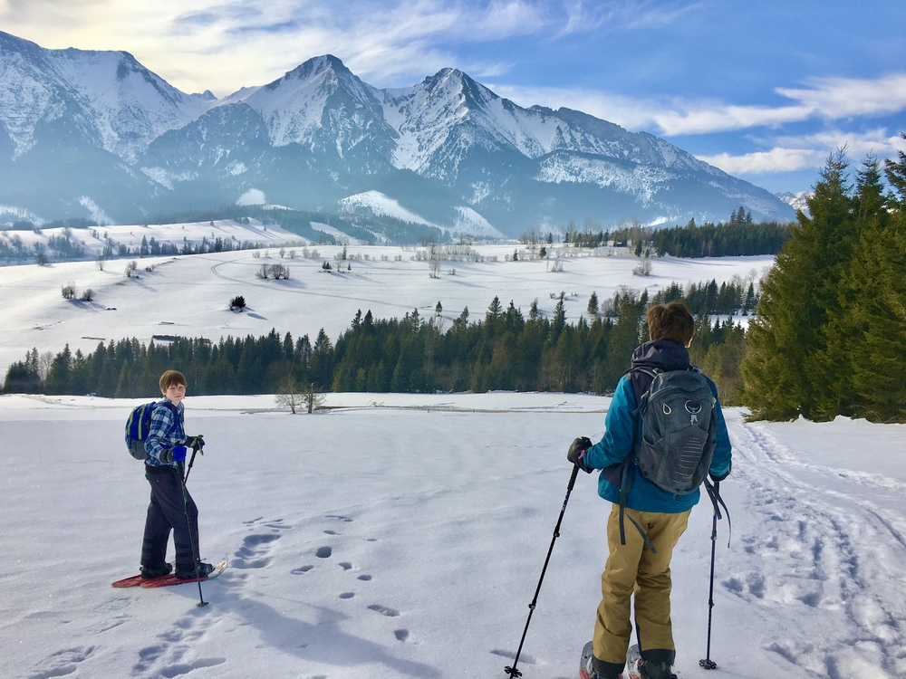winter in the high tatras slovakia includes snowshoeing