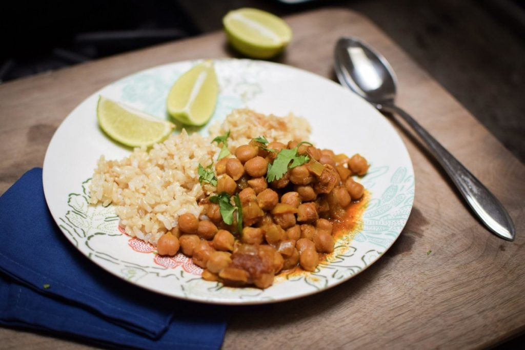 indian chickpea curry for an Indian themed party