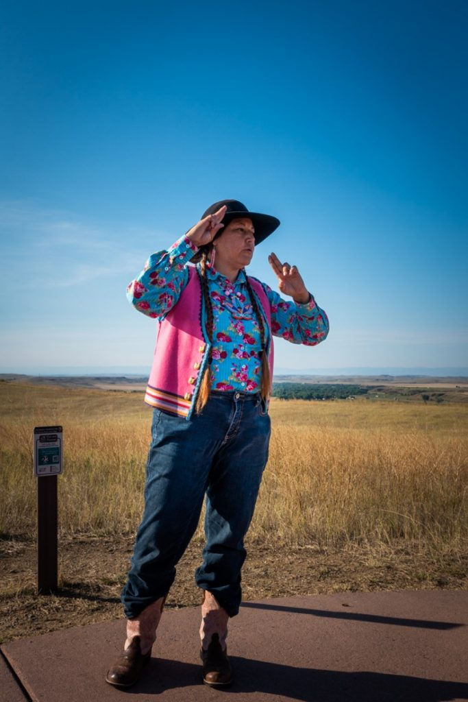 personal tour guide at Little Bighorn Battlefield