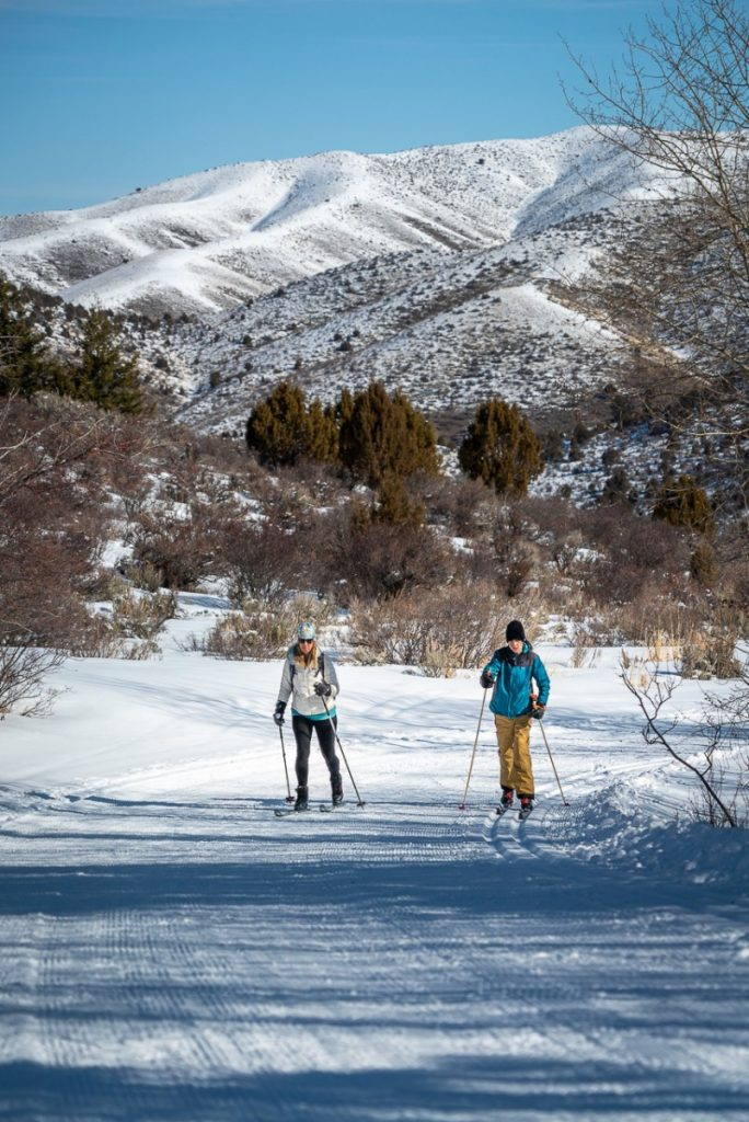 Best things to do in Idaho in the winter includes cross country skiing