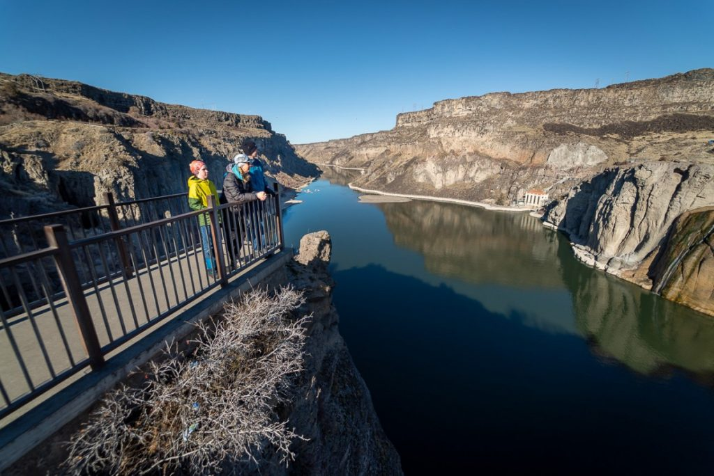 Overlooking the Snake River at Shoshone Falls State Park, Twin Falls Idaho