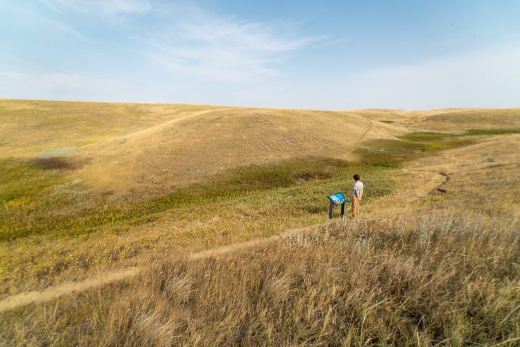 Unusual places in Montana include Bear Paw Battlefield an this big expanse of prairie