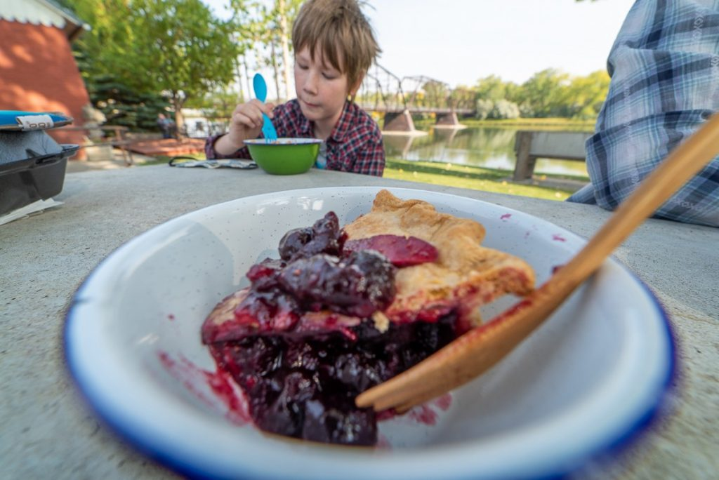 cherry pie in a bowl in Fort Benton montana