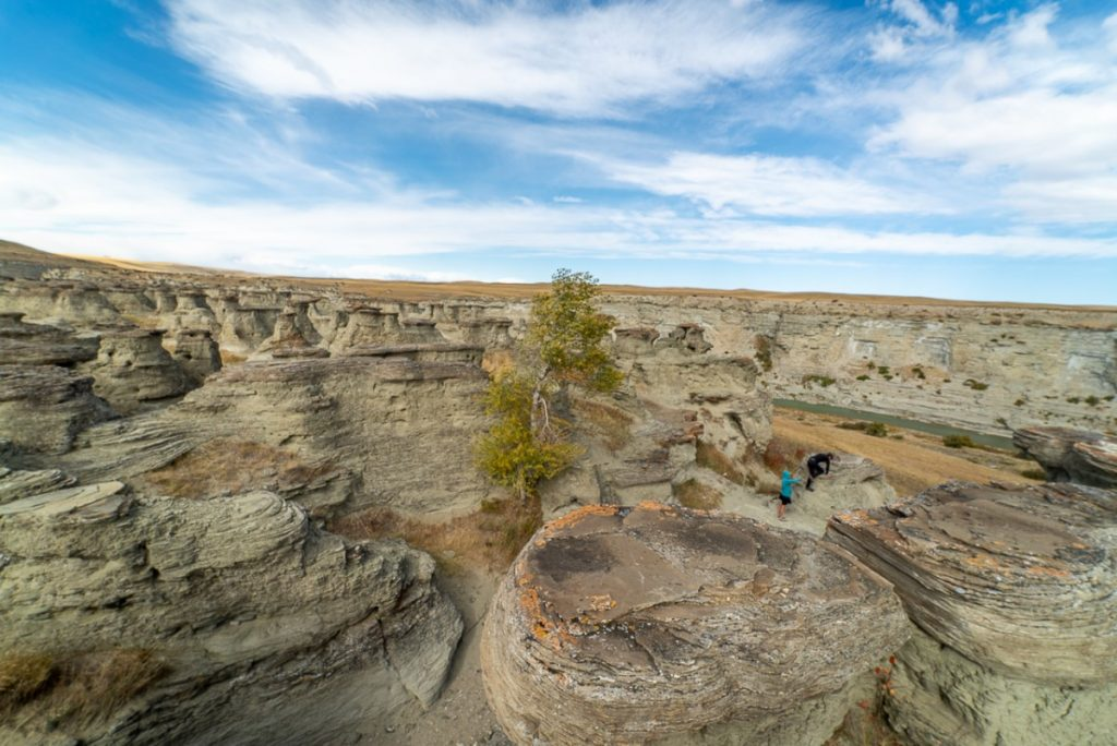 Sandstone hoodoos and pillars at Rock City weird places in Montana
