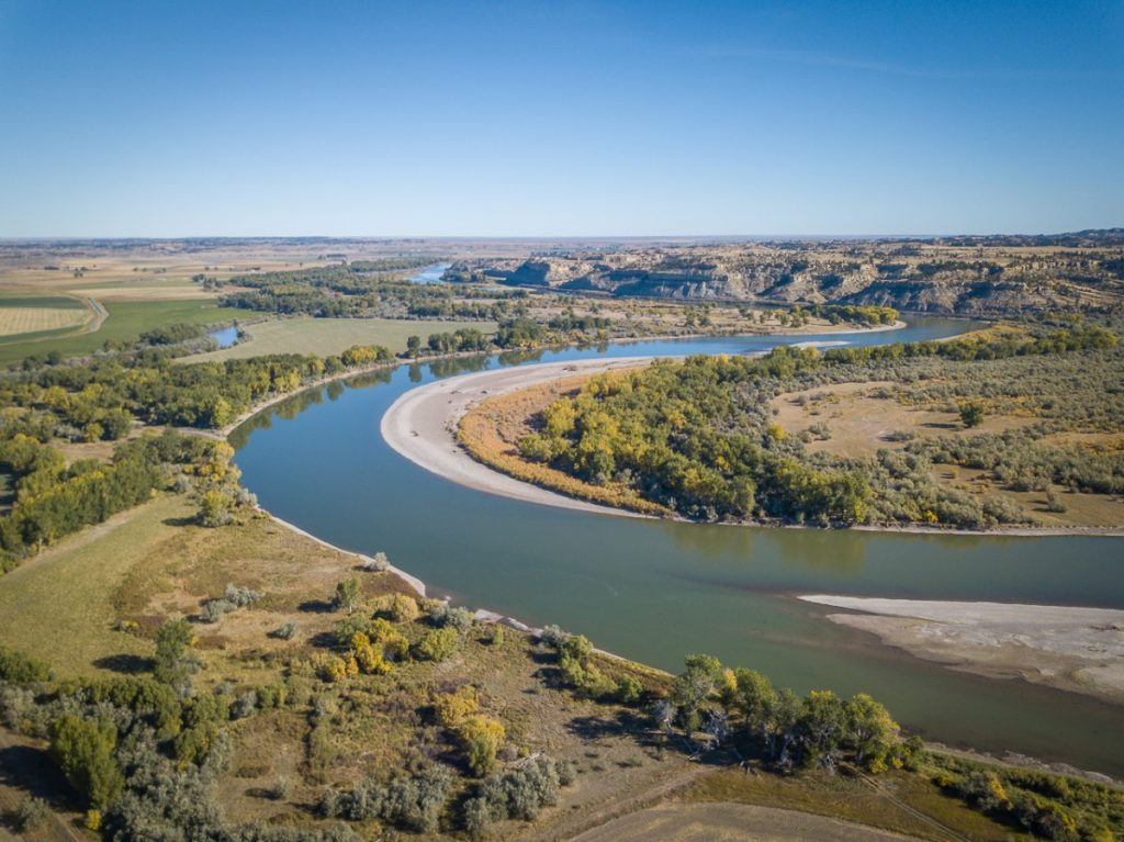 yellowstone river aerial photo