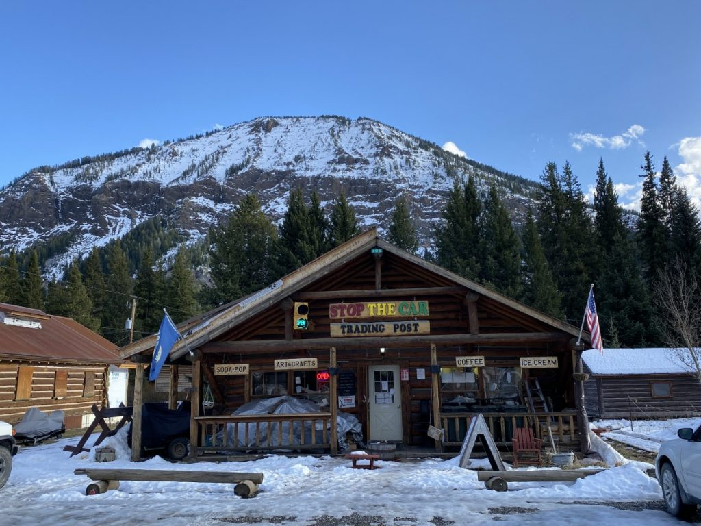 Stop the Car Trading Post is what is open in Silver Gate Montana